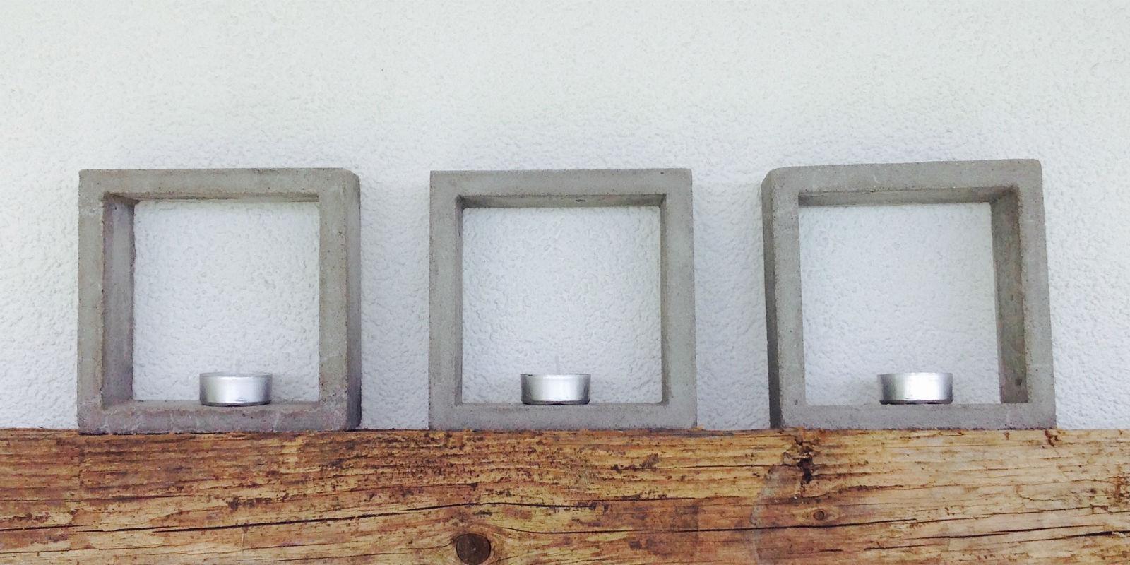 kerzen rahmen beton 05 kunst aus beton. Black Bedroom Furniture Sets. Home Design Ideas
